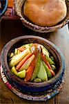 Dish of tagine, restaurant, Medina, Marrakech, Morocco, North Africa, Africa