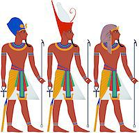 Vector illustration of ancient Egypt Pharaoh three pack. Stock Photo - Royalty-Freenull, Code: 400-07464288