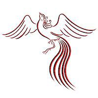 frbird - Black and red graceful Firebird contour isolated over white. Hand drawing vector illustration Stock Photo - Royalty-Freenull, Code: 400-07464708