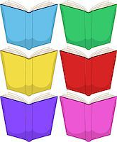 Vector illustration of colorful books pack. Stock Photo - Royalty-Freenull, Code: 400-07471021