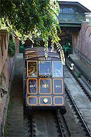 BUDAPEST, HUNGARY - AUGUST 2: Funicular tram train going to Buda Castle, Budapest, on AUGUST 2, 2013. Stock Photo - Royalty-Freenull, Code: 400-07479194