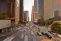 Traffic in downtown Los Angeles Stock Photo - Premium Royalty-Freenull, Code: 6106-07493624