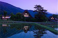 scenic view - Shirakawa-go Village, Gifu Stock Photo - Premium Rights-Managednull, Code: 859-07495655