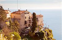 France, Alpes Maritimes Provence Cote d'Azur, Eze. Chateau Eza with the Mediterranean sea in the background Stock Photo - Premium Rights-Managed, Artist: AWL Imag