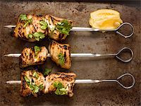 close up of grilled chicken skewers Stock Photo - Royalty-Freenull, Code: 400-07505051