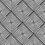 Design seamless monochrome diamond stripy pattern. Abstract geometric textured background. Vector art