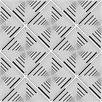 Design seamless monochrome rhombus stripy pattern. Abstract geometric textured background. Vector art