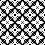 Design seamless monochrome geometric cross pattern. Abstract textured background. Vector art