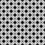 Design seamless monochrome grid geometric pattern. Abstract textured background. Vector art