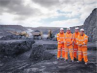 Portrait of digger drivers in surface coal mine Stock Photo - Premium Royalty-Freenull, Code: 649-07520530