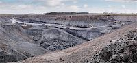 Overview of excavation and geology in surface coal mine Stock Photo - Premium Royalty-Freenull, Code: 649-07520532
