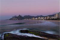 Ipanema beach at sunrise, Rio De Janeiro, Brazil Stock Photo - Premium Royalty-Free, Artist: Minden Pictures, Code: 649-07521151