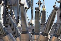 High voltage transformers at electric plant Stock Photo - Premium Royalty-Freenull, Code: 6105-07521393