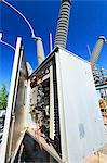 Instrumentation and monitoring unit at high voltage distribution station, Braintree, Massachusetts, USA Stock Photo - Premium Royalty-Freenull, Code: 6105-07521413