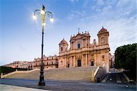 Duomo (Noto Cathedral) (St. Nicholas Cathedral) (Cattedrale di Noto), Piazza Municipio, Noto, Val di Noto, UNESCO World Heritage Site, Sicily, Italy, Europe Stock Photo - Premium Rights-Managednull, Code: 841-07523229