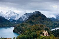 Schloss Hohenschwangau castle in the Bavarian Alps, Germany Stock Photo - Premium Rights-Managednull, Code: 841-07523669