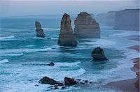 rugged landscape - The Twelve Apostles, Great Ocean Road, Victoria, Australia, Pacific Stock Photo - Premium Rights-Managednull, Code: 841-07524008
