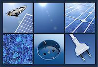 Multipicture for solar energy Stock Photo - Premium Royalty-Freenull, Code: 618-07524229