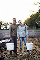 farming (raising livestock) - Young Couple Working On Farm, Croatia, Europe Stock Photo - Premium Royalty-Freenull, Code: 6115-07539619