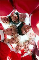 football team - Boys at soccer training, standing in a circle, Munich, Bavaria, Germany Stock Photo - Premium Royalty-Freenull, Code: 6115-07539657