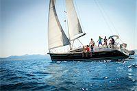 sailboat  ocean - Young people sailing together, Adriatic Sea, Croatia Stock Photo - Premium Royalty-Freenull, Code: 6115-07539679