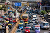 Traffic congestion on downtown highway to Bandra, Andheri and Santacruz and access route to the BKC Complex in Mumbai, India Stock Photo - Premium Rights-Managednull, Code: 841-07540475
