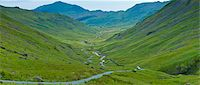 scenic view - Langdale Pass surrounded by Langdale Pikes in the Lake District National Park, Cumbria, UK Stock Photo - Premium Rights-Managednull, Code: 841-07540512