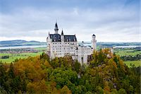 Schloss Neuschwanstein castle, 19th Century Romanesque revival palace of Ludwig II of Bavaria in the Bavarian Alps, Germany Stock Photo - Premium Rights-Managednull, Code: 841-07540657