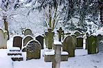 Snow-covered gravestones in Hampstead Parish Graveyard in Church Row and Holly Place in Hampstead, North London, UK Stock Photo - Premium Rights-Managed, Artist: Robert Harding Images, Code: 841-07540683