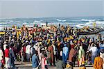Kayar fish harbour, the biggest fish harbour in Senegal, West Africa, Africa Stock Photo - Premium Rights-Managed, Artist: Robert Harding Images, Code: 841-07541019