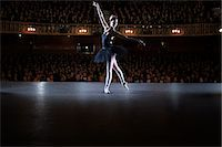 Ballet dancer performing on stage in theater Stock Photo - Premium Royalty-Freenull, Code: 6113-07542918