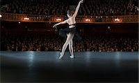 Ballerina performing on stage in theater Stock Photo - Premium Royalty-Freenull, Code: 6113-07542923
