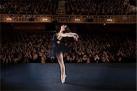Ballerina performing on stage in theater Stock Photo - Premium Royalty-Freenull, Code: 6113-07542929