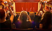 Audience clapping in theater Stock Photo - Premium Royalty-Freenull, Code: 6113-07542950