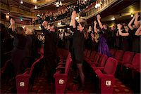 Audience applauding in theater Stock Photo - Premium Royalty-Freenull, Code: 6113-07542962