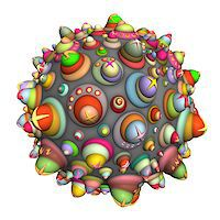 pinball - 3d techno ball in multiple color on white Stock Photo - Royalty-Freenull, Code: 400-07545470