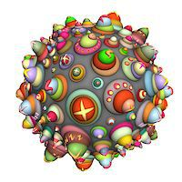 pinball - 3d techno ball in multiple color on white Stock Photo - Royalty-Freenull, Code: 400-07545471