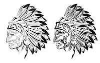 American Indian chief tattoo Stock Photo - Royalty-Freenull, Code: 400-07552724