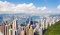 Hong Kong skyline. View from Victoria Peak. Stock Photo - Royalty-Free, Artist: cozyta, Code: 400-07555931