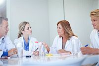 Small group of doctors meeting at the conference table Stock Photo - Premium Royalty-Freenull, Code: 649-07559915