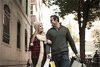 Young tourist couple arm in arm, New York City, USA Stock Photo - Premium Royalty-Freenull, Code: 649-07559986
