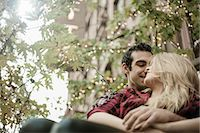 Young couple sitting on steps Stock Photo - Premium Royalty-Freenull, Code: 649-07560004