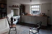 Period chairs in basement kitchen, Whitechapel, London Stock Photo - Premium Rights-Managed, Artist: Arcaid, Code: 845-07561444