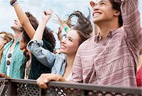 Fans cheering at music festival Stock Photo - Premium Royalty-Freenull, Code: 6113-07564810
