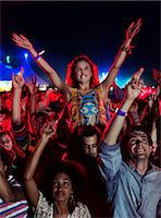 Fans cheering at music festival Stock Photo - Premium Royalty-Freenull, Code: 6113-07564927