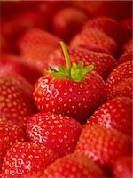 Extreme close up of ripe strawberries Stock Photo - Premium Royalty-Freenull, Code: 6113-07565165