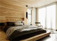platform - Sunny modern bedroom Stock Photo - Premium Royalty-Freenull, Code: 6113-07565665
