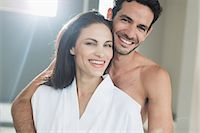 shirtless men - Portrait of happy couple hugging Stock Photo - Premium Royalty-Freenull, Code: 6113-07565751