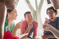 five people - Creative business people brainstorming in circle Stock Photo - Premium Royalty-Freenull, Code: 6113-07565941