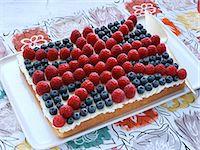 rectangle - Union Jack Cake Stock Photo - Premium Rights-Managednull, Code: 824-07586310